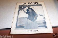 REVUE LA RAMPE N° 239 Mlle YVONNE LEGEAY 18 06 1921