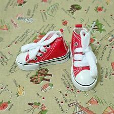 Bjd 1/4 MSD Shoes sneakers canvas pu red