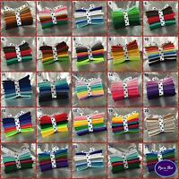 Wool Mix felt craft pack ~ Ten 10cm x10cm sheets ~ Choice of 20 Colour Themes