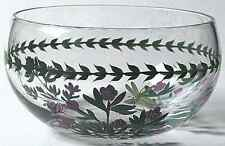 Portmeirion BOTANIC GARDEN Rhododendron Hand Painted Glass Salad Bowl 3774446