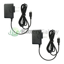 2 Micro USB Home Wall AC Charger for Blackberry HTC LG Motorola Samsung Phones