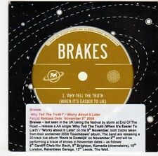 (EM723) Brakes, Why Tell The Truth - 2009 DJ CD