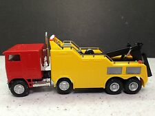 HO 1/87 Promotex Herpa # 6445 Freightliner FLB Heavy Duty Wrecker - Red/Yellow