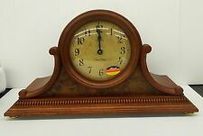 HERMLE MANTLE CLOCK - CHERRY FINISH- DUAL CHIMES, AUTO NIGHT SHUT OFF