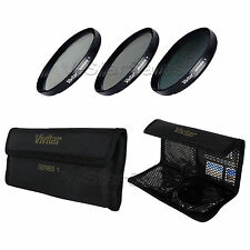 Vivitar 37mm 37 UV + CPL + ND8 Multicoated Filter Kit VIV-FKND-37