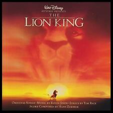 THE LION KING - WALT DISNEY SOUNDTRACK CD ELTON JOHN~TIM RICE~HANS ZIMMER *NEW*