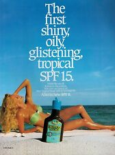 1989 TROPICAL BLEND : TANNING OIL : BIKINI GIRL Magazine  PRINT AD
