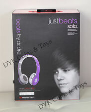 100% Original JustBeats Solo Justin Bieber Just Beats On Ear Headphones Monster