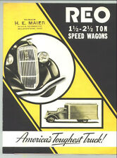 1930s (late)  REO 1 1/2-2 1/2-Ton Speed Wagons Truck Sales Brochure