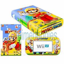 Super Mario Maker Vinyl Skin Decal Sticker for Nintendo Wii U Console Controller