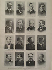 Party Leaders Democratic National Convention Chicago 1896 Harpers Weekly