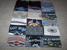 Lot of 15 Fifteen HARLEY DAVIDSON T-Shirts Sizes XL/XXL Biker Various Cities EUC