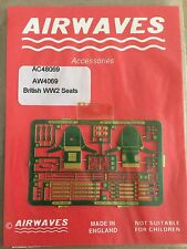 Airwaves 1/48th WW2 Aircraft Seats Components Photo-Etched Brass Conversion Set