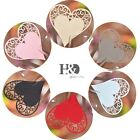 Paperboard Heart Shaped Place Name Cards Wedding Tableware Party Decor wholesale