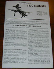 COX THIMBLE DROME .049 SB2C HELLDIVER OWNERS MANUAL AND FLIGHT INSTRUCTIONS 049
