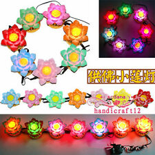 Buddhist Lamp Lotus Flower LED Color Changing Lamp 13 Kinds Buddhist Pray Song
