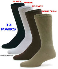 12 Pairs Mens Physicians Choice VENTILATED Diabetic Variety Crew Socks  US Made