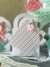 24 Shabby Chic Tea Party Thank You favor boxes for Baby Shower or party Cute!!!
