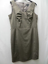 PLUM/GREY SMART OFFICE LINED DRESS SIZE 16 BY NEXT