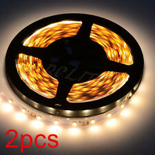 2pcs 16.4ft SMD3528 LED Strip Light Lamp 300led/roll Warm White Christmas Decor