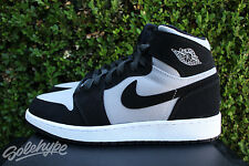 NIKE AIR JORDAN 1 RETRO HIGH GS SZ 7 Y WOLF GREY WHITE BLACK GG 332148 007