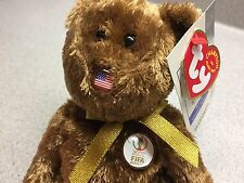 TY BEANIE BABY CHAMPION 2002 FIFA WORLD CUP UNITED STATES Teddy Bear KOREA JAPAN