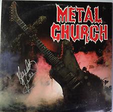 """SIGNED METAL CHURCH AUTOGRAPHED 1ST ALBUM 12"""" LP Kurdt Vanderhoof"""