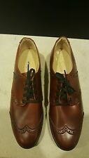 VINTAGE BASS WINGTIP GOLF SHOES CLEATS DUPONT CORFAM UPPER MENS SIZE 7 1/2