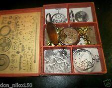 Antique rare pocket watch HEBDOMAS  hunter case silver dial
