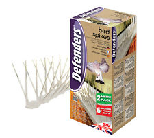 STV Bird Spikes 2 Metre Pack Of 6 Sections Transparent Anti Roosting Windows