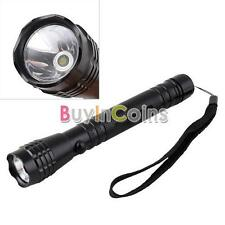 Bright 3W LED 2x AA Camping Flashlight Torch Light Lamp Hand Strap #4