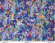 Fat Quarter Enchanted Flower Fairies 100% Cotton Quilting Fabric Michael Miller