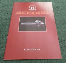 1986 HONDA ACCORD AERODECK 3 DOOR - UK 20pg BROCHURE