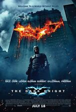 DARK KNIGHT ORIGINAL 27x40 MOVIE POSTER BUILDING ON FIRE STYLE NOT A REPRINT