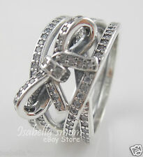 DELICATE SENTIMENTS Authentic PANDORA Sivler/Cz RIBBON BOW Wrap Ring 9/60 NEW