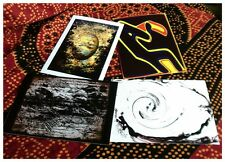 Set of printed artistic postcards. Abstract expressionism surreal visionary art.