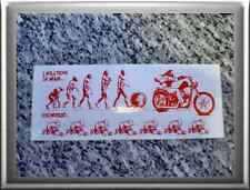 "Hells Angels support 81 Sticker Adhesivo ""Evolution of Man... and Women"" grande"
