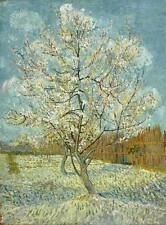 THE PINK PEACH TREE, Vincent Van Gogh Reproduction CANVAS PRINT 24x31 in.