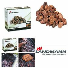 2 x 3kg Lava Rocks Grill Gas Charcoal BBQ Barbecue Stones Garden free Delivery