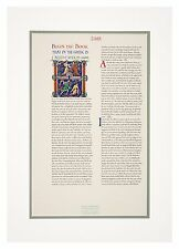 23.5 k Gold Leaf Illuminated Winchester Bible Poster