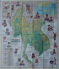 1971 Ethnographic Map Vietnam Laos Cambodia Thailand Southeast Asia Burma Malay