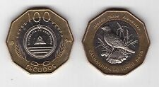 CAPE CABO VERDE - RARE BIMETAL 100 ESCUDOS UNC COIN 1994 YEAR BIRD KM#39a