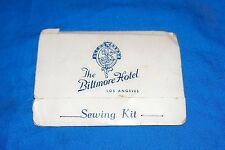 Old Sewing Kit The Biltmore Hotel Los Angeles Vintage Advertising Promo Giveaway