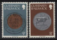 [JSC]1970-71 British Guernsey Bailiwick Courvoisier Coin on Stamps