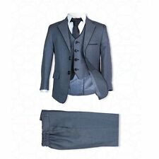 Page Boy Suits Italian Wedding Prom Boys Suit in Black Grey Blue Navy Ivory