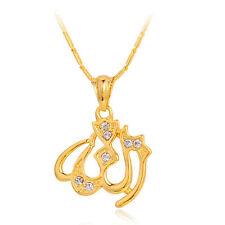 Namen des Gottes Allah auf Arabisch-Ketten-Halskette & Anhänger islamische Gold