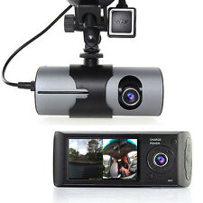 "2.7"" TFT LCD HD Dash-Cam DualCam Car DVR w/ GPS Tracker + Google Maps + G-Sensor"