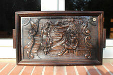 ANTIQUE FRENCH CARVED WOOD oak BRITTANY CA1920