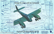 "Model Airplane Plan 86"" 2-.61 Radio Control ME 410 Full Size Digital Plans on Cd"
