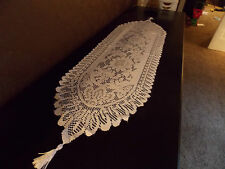 NEW - Off White, Cream, Beige, Ivory Lace Table Runner or Dresser Scarf Floral